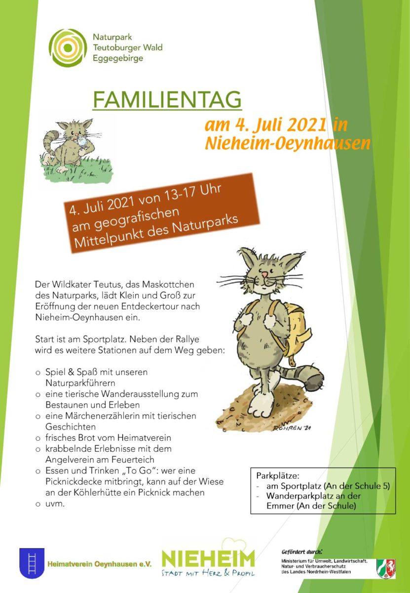 Plakat zum Familientag am 4. Juli